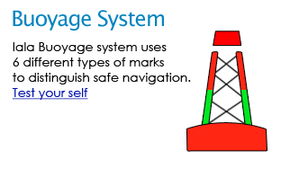 Iala Buoyage - Iala Buoyage system uses 6 different types of marks to distinguish safe navigation.